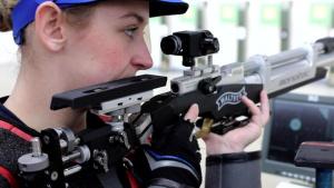 Olympian Spc. Alison Weisz - B Roll of Training (#2)