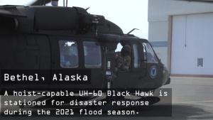 Alaska Army National Guard deploys Black Hawk to Bethel for spring floods season