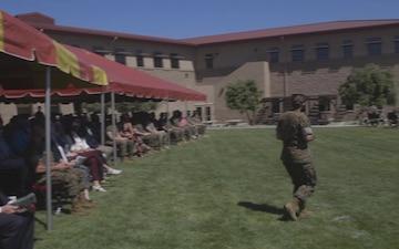 1st Marine Logistics Group Commanding General change of command ceremony