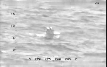 P-3 crew observes go-fast vessel crew dump contraband in the ocean