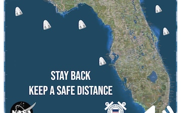 """Coast Guard reminds mariners to """"Stay Back"""" during space recovery operations"""