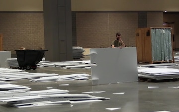 Connecticut National Guard Consolidates Overflow Beds at Hartford Convention Center