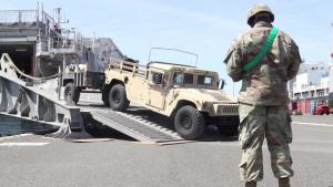 U.S. Naval Ship Yuma arrival to Croatia B-Roll