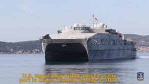 U.S. Naval Ship Yuma arrival at Zadar, Croatia