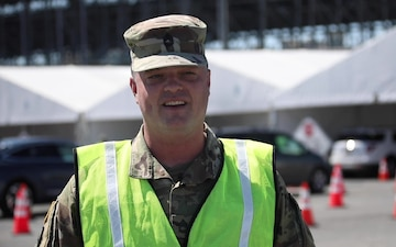 Interview: Master Sgt. Tim Gantor w/Delaware National Guard: Dover Mass COVID-Vaccination Site