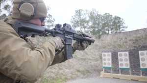 Navy EOD Technicians Train in Small Arms at Shooting Range