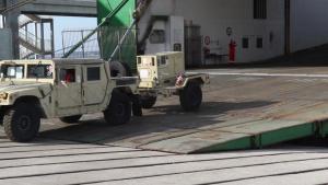 British cargo ship arrives at Zadar, Croatia