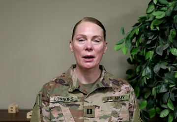 CPT Erica Connors Mother's Day Message