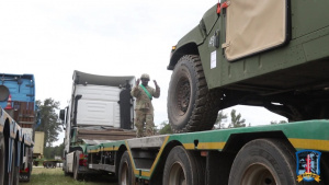 Movement Control Team prepares equipment for transportation