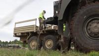 Movement Control Team prepares equipment for transportation- B-Roll