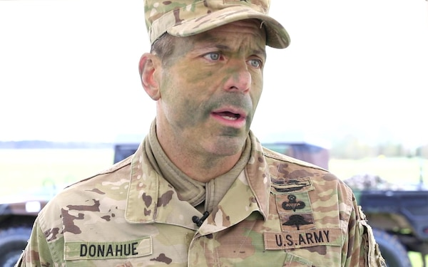 82nd Airborne Division commander and 82nd ABN, 2 Para combined soldiers interview