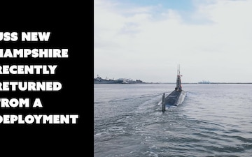 USS New Hampshire Returns From Deployment