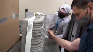 3D-Printed Concrete Walls Ballistics Testing