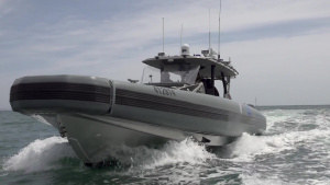 B-Roll: Air and Marine Operations Coastal Interceptor Vessel