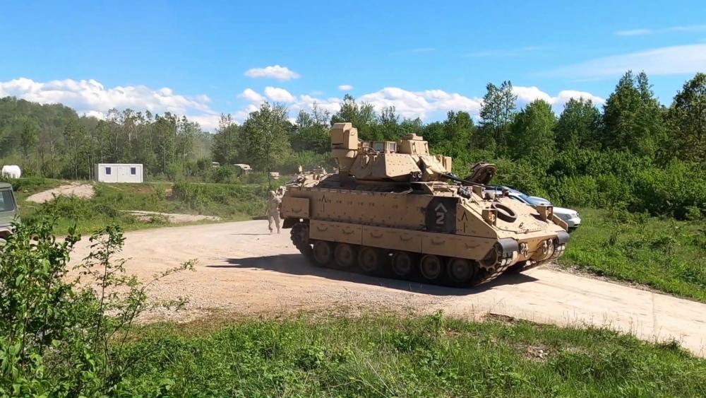 US Military News • Bradley Fighting Vehicles Arrive in Croatia – May 18 2021