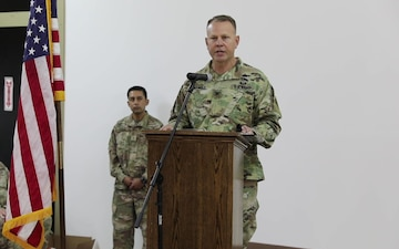 Task Force Phoenix commander gives TOA speech