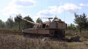 M109 Paladin Howitzer B-roll