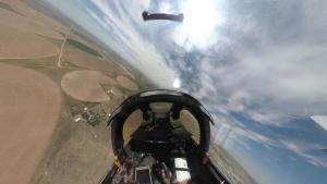 A-10 Demo Team Dalhart Airshow cockpit b-roll