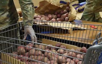 Michigan National Guard assist local food bank- B-roll