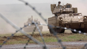 2-5 Cav, Bulgarian 3-61 Mech Inf prepare for LFX B-Roll 1