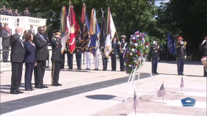 President, Secretary of Defense, Joint Chiefs Chairman Lay Wreath During Memorial Day Ceremony