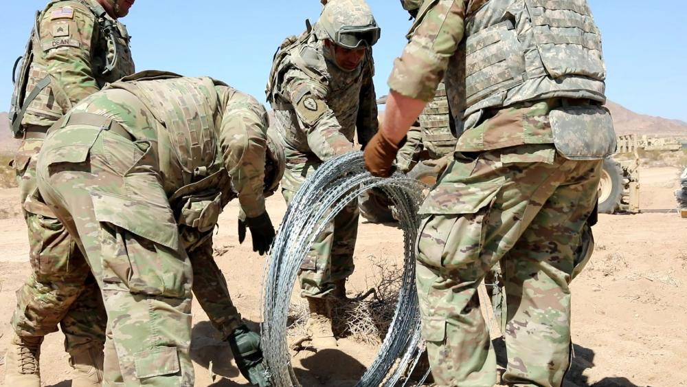 US Military News • US Soldiers Prepare an Entry Control Point • NTC Fort Irwin, Cal USA Jun 01 2021