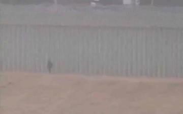 Border Agents Encounter Child along Border Wall