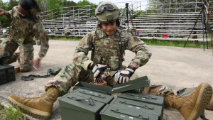512th Security Forces Squadron Heavy Weapons Training B-Roll