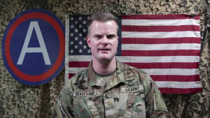 Maj. Clinton Beauchamp's Army Birthday Shoutout from Kuwait