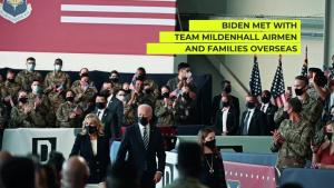 President Biden Visits RAF Mildenhall