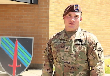Staff Sgt. Jon Anderson offers up a Father's Day Greeting
