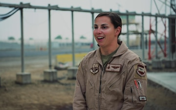 Female fighter pilot makes deployment debut with 494th FS