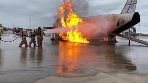 Extinguishing Aircraft Fires