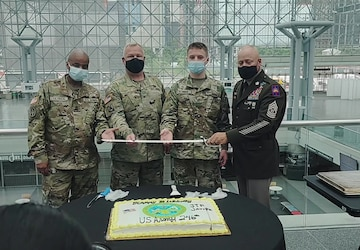 Joint Task Force Javits, NYC Celebrates US Army 246th Birthday