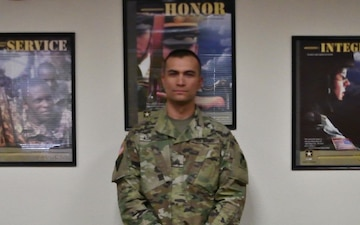 Sgt. Paul Askedall wishes the U.S. Army happy birthday