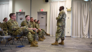 ANG Command Chief Visits 102nd Intelligence Wing