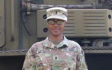 1st Lt. Shanithia Robertson Father's Day shoutout