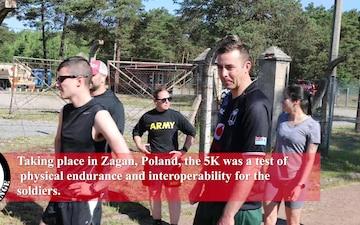 Army Birthday 5k Run in Zagan, Poland