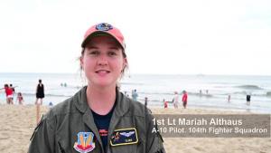 Maryland Air National Guard A-10 Thunderbolt II Performs at Ocean City Air Show