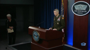 Chief of the National Guard Bureau Speaks to Reporters