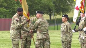 16th Sustainment Brigade Change of Command ceremony