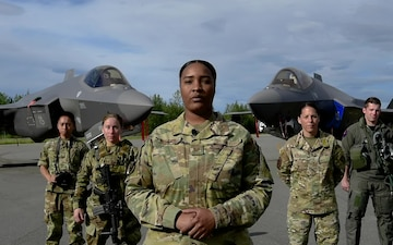 Eielson Airmen shout out for Independence Day