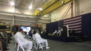 VADM Brown's retirement ceremony