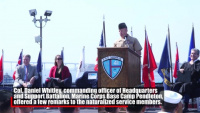 Service members become citizens during all-military naturalization ceremony