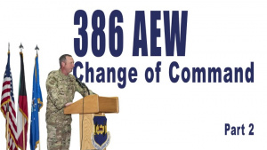 386 AEW Change of Command