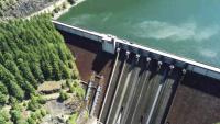Detroit Dam drone footage