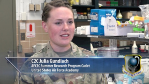 Cadet Summer Research Program: AF leaders of tomorrow help solve today's problems