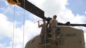 1-52nd Aviation Regiment Chinooks fly for Exercise Forager 21