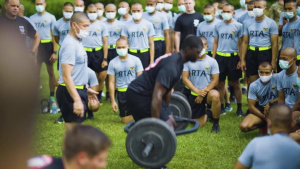 Royal Thai Army with the 2nd Battalion, 325th Airborne Infantry Regiment, 2nd Brigade Combat Team, 82nd Airborne Division Conducted an Army Combat Fitness Test familiarization