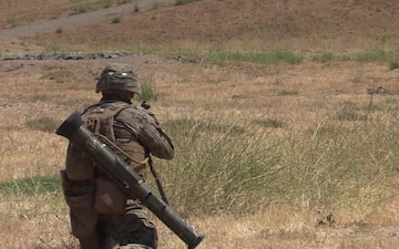 U.S. Marines participate in a selection range for 1st MARDIV Super Squad - 2 of 3